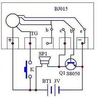 杜铭源 语言集成电路    bj015  圣诞曲   触发一次,循环一次  接线图