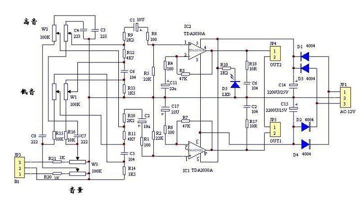 低音炮功放板电路图